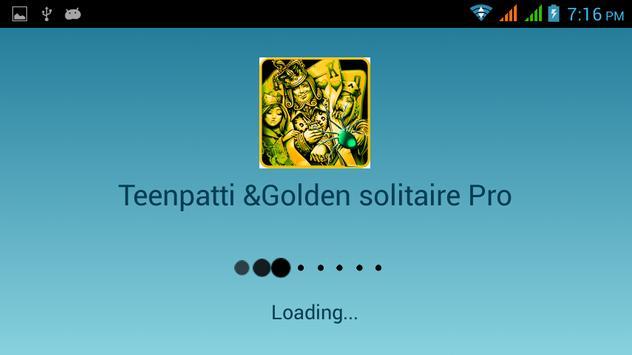 Teen patti & Golden solitaire poster