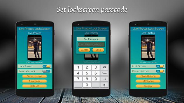 Live Photos Lock Screen apk screenshot