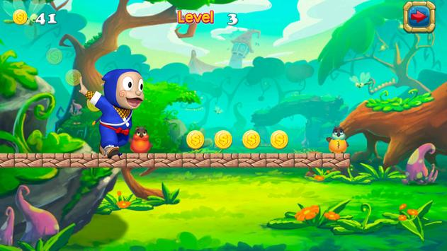 Super Hattori Run ninja Game screenshot 2