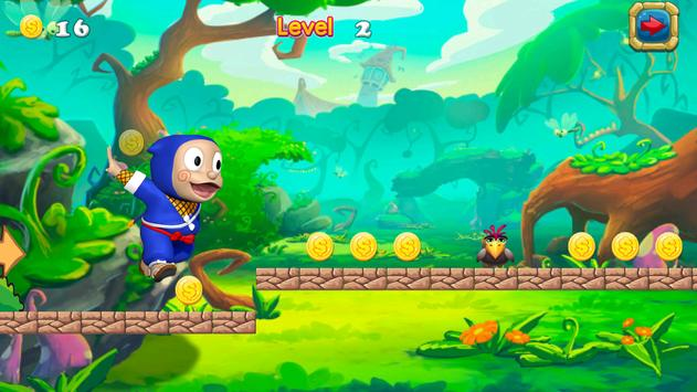Super Hattori Run ninja Game screenshot 4