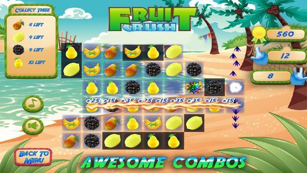 Fruit Crush Mania - Swiped screenshot 7