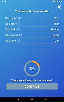 Learn German Words,Verbs,Articles with Flashcards screenshot 11