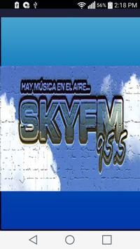 Fm Sky 95.5 mhz poster