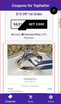Coupons for Tophatter - Shopping Deals screenshot 1