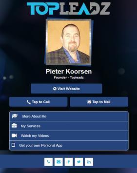 Pieter Koorsen Personal App poster