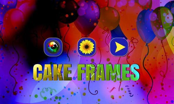 Cake Photo Frame Design. poster