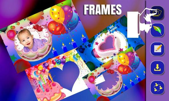 Cake Photo Frame Design. screenshot 1