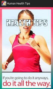 Human Health Tips poster
