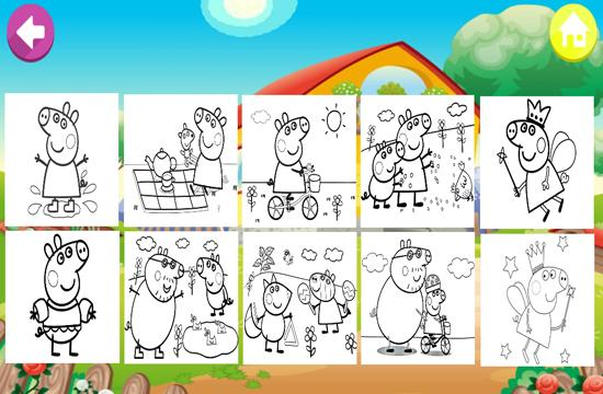 Art Peppa Coloring Page Pig Cartoon For Android Apk Download