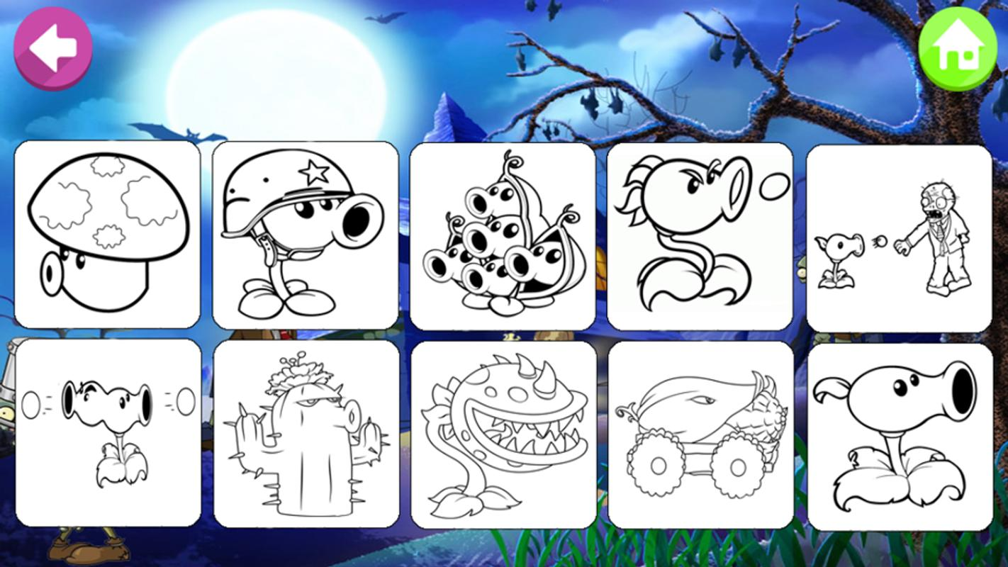 Draw Vs Paint Zombie Plants For Android Apk Download