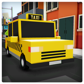 Modern Taxi Simulator Pixel 3D icon