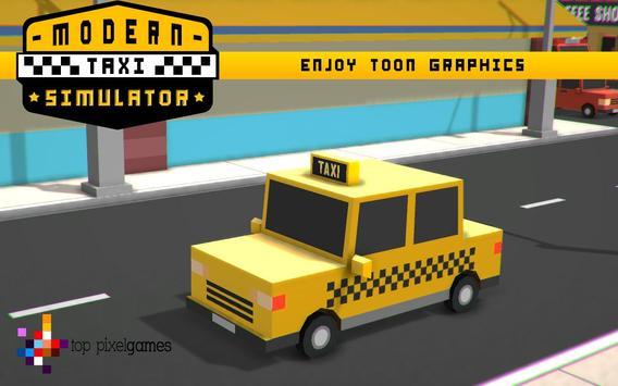 Modern Taxi Simulator Pixel 3D screenshot 1