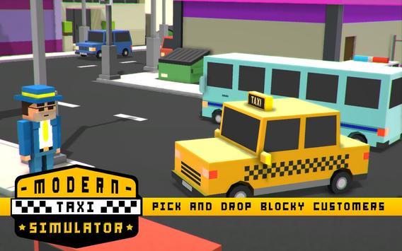 Modern Taxi Simulator Pixel 3D screenshot 2
