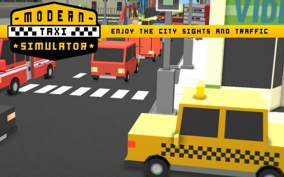 Modern Taxi Simulator Pixel 3D screenshot 3