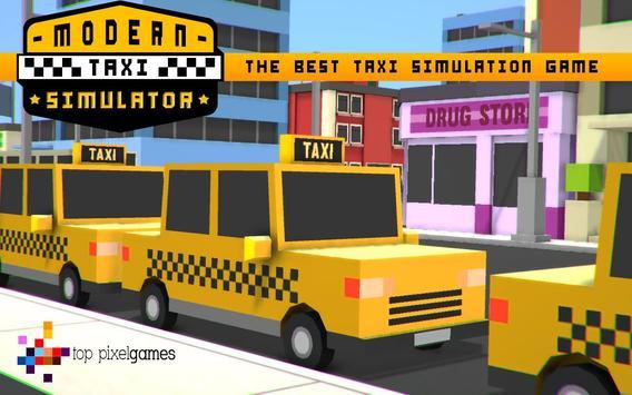 Modern Taxi Simulator Pixel 3D screenshot 9