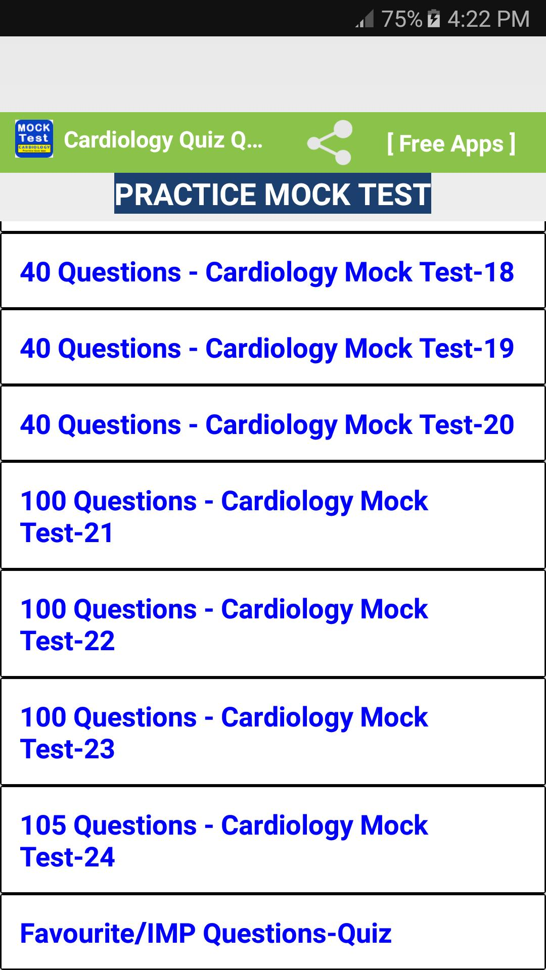 Cardiology Quiz Questions Answers free for Android - APK