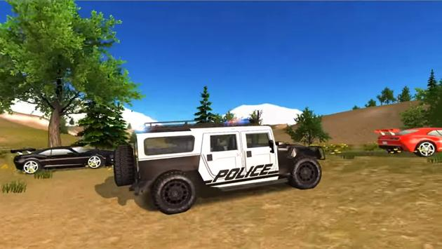 New Police Car Offroad simulator Driving poster