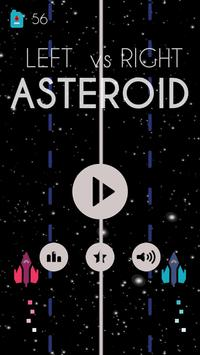 Left vs Right : Asteroids poster