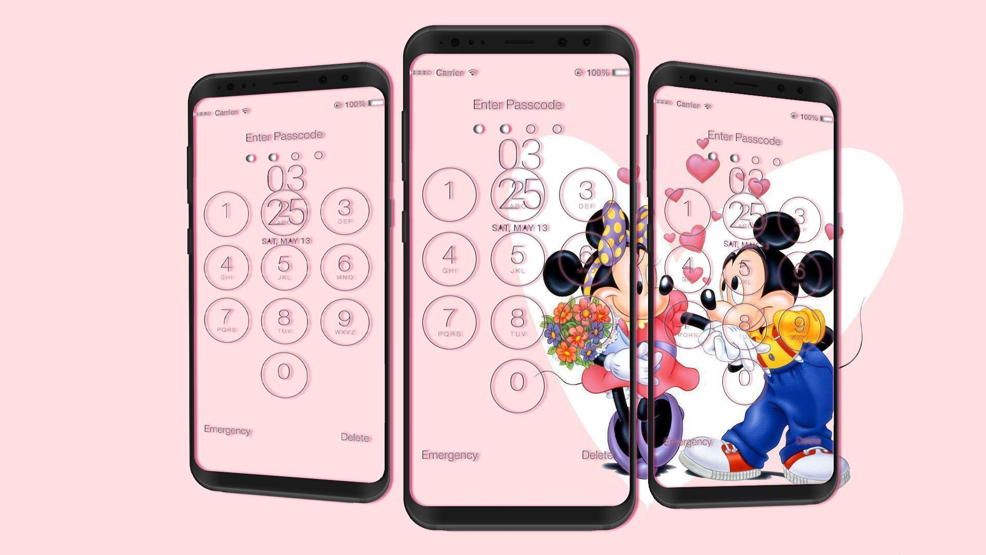 Minnie Mouse Lock Screen Hd Wallpapers For Android Apk