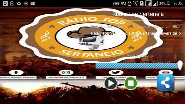 Radio Top Sertanejo screenshot 1