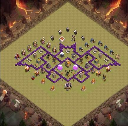 Top Town Hall 7 War Base Map Pour Android Téléchargez L Apk