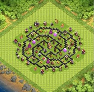 Top Town Hall 8 Hybrid BaseMap apk screenshot