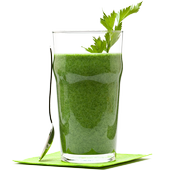 Green juice loses weight icon