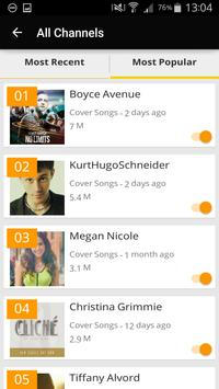 TVA: Cover Songs on YouTube apk screenshot