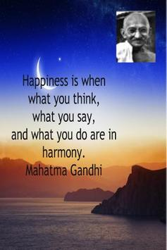 Mahatma Gandhi QuotesWallpaper poster