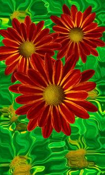 Beautiful flowers on green apk screenshot