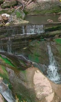 Beautiful natural dam poster
