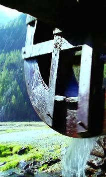 Beautiful old water wheel poster