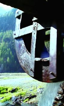 Beautiful old water wheel apk screenshot