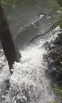 Stormy forest waterfall apk screenshot