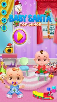 Christmas - Top Wings Baby Santa poster