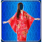 Kimono dress Photo frames icon