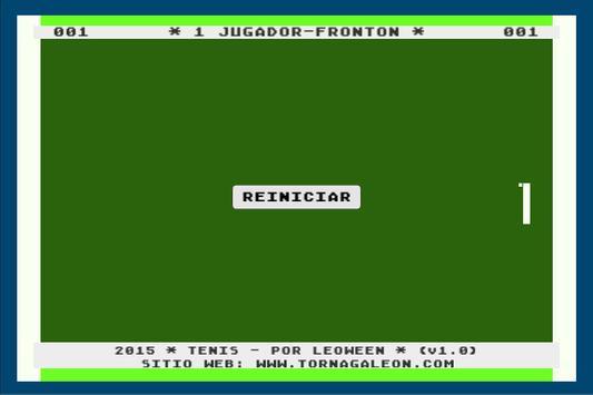 Tenis - Fronton poster