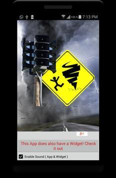 Tornado Alarm Siren App Widget apk screenshot