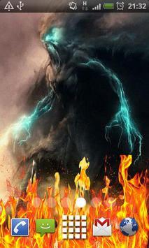 Tornado Demon Fire Flames LWP poster