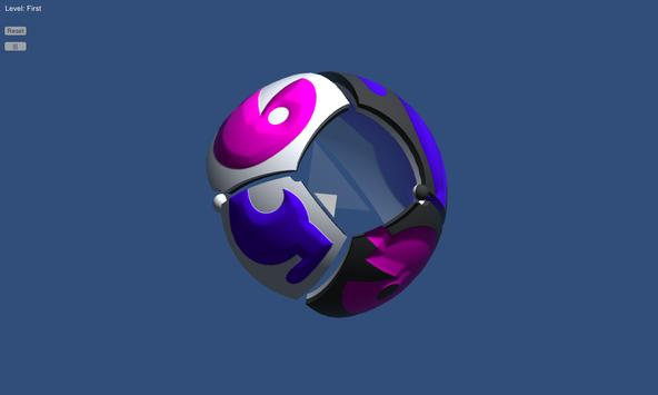 Sfera - sliding puzzle in curved space apk screenshot