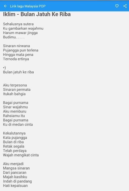 Lirik Lagu Pop Malaysia For Android Apk Download