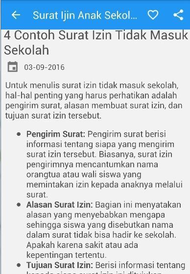 Surat Izintidak Masuk Sekolah For Android Apk Download