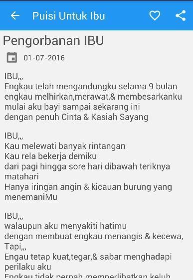 Puisi Ibu Tercinta For Android Apk Download