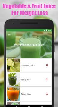 Fruit & Vegetable Diet Juice poster