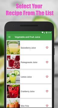 Fruit & Vegetable Diet Juice screenshot 1