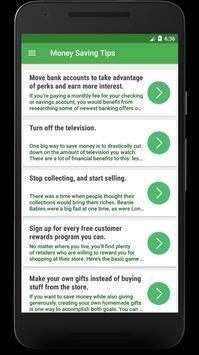 Money Saving Tips : How To Save And Increase Money screenshot 1