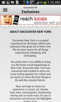 Encounter New York poster