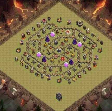 Top Town Hall 9 War Base Map for Android - APK Download