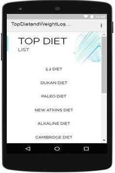 Top Diet and Weight Loss Programs apk screenshot
