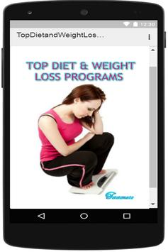 Top Diet and Weight Loss Programs poster
